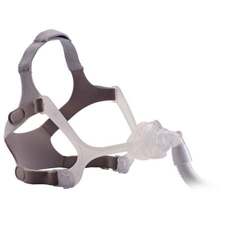 Wisp CPAP-næsemaske med hovedtøj, Silikoneramme