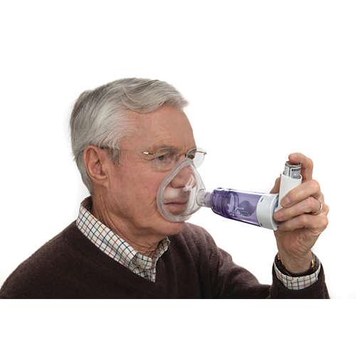 OptiChamber Diamond Venttiilillä varustettu tilanjatke ja maski