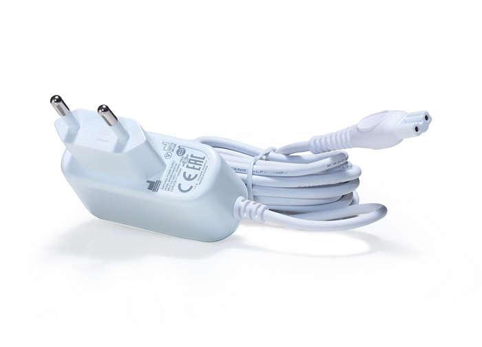 Laad InnoSpire Go op een netspanning van 230 V/50 Hz