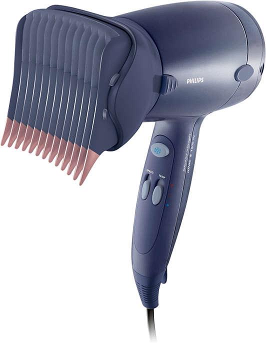 Seque e modele seus cabelos com facilidade da raiz às pontas