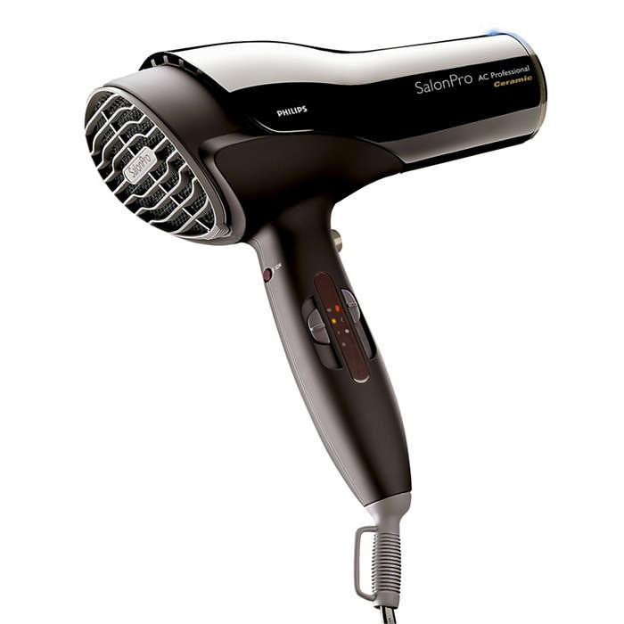 O secador que os cabeleireiros utilizariam em casa