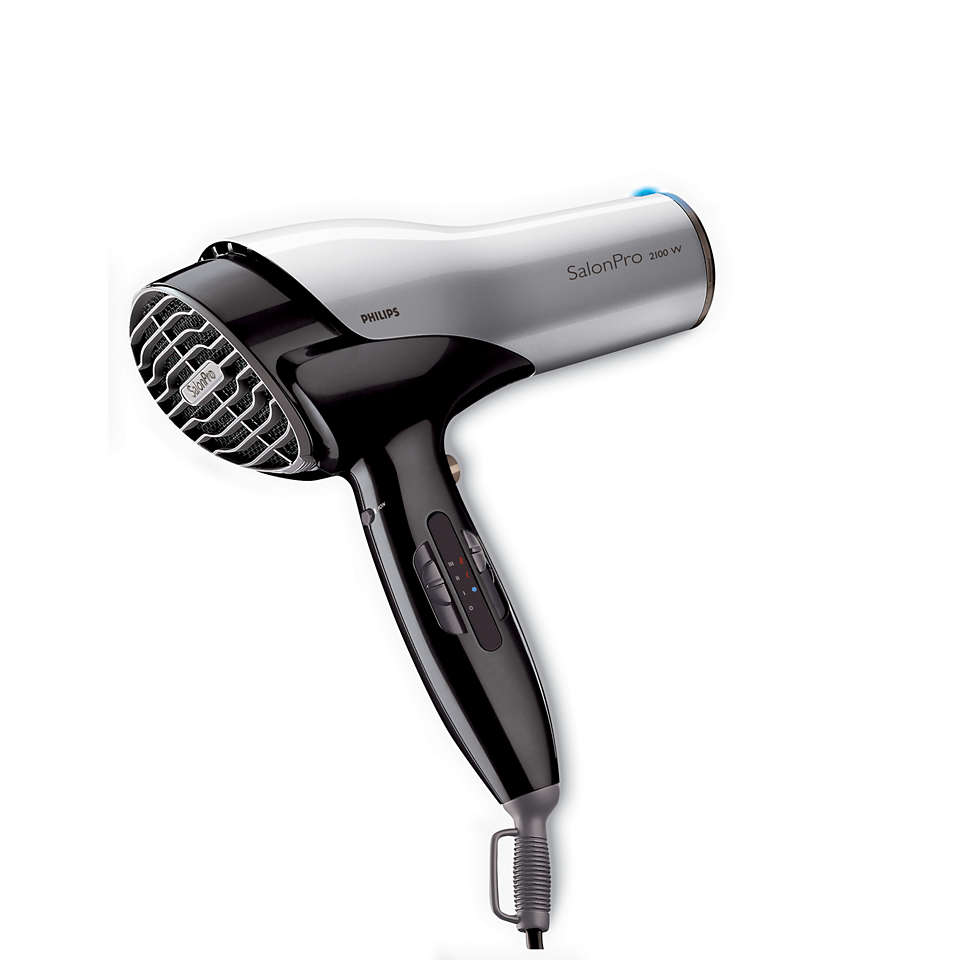The dryer hairdressers would use at home