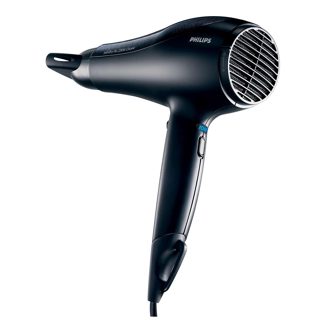 O secador que os cabeleireiros usariam em casa