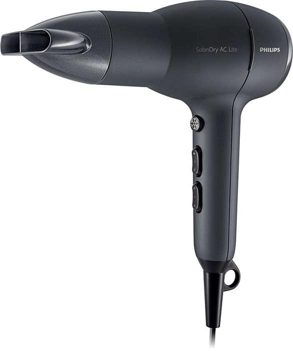Le sèche-cheveux moteur professionnel AC le plus léger*