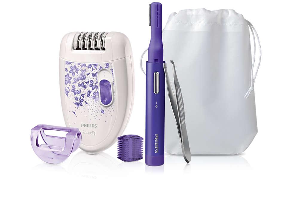 Kit 3en1 pour une peau parfaitement lisse!