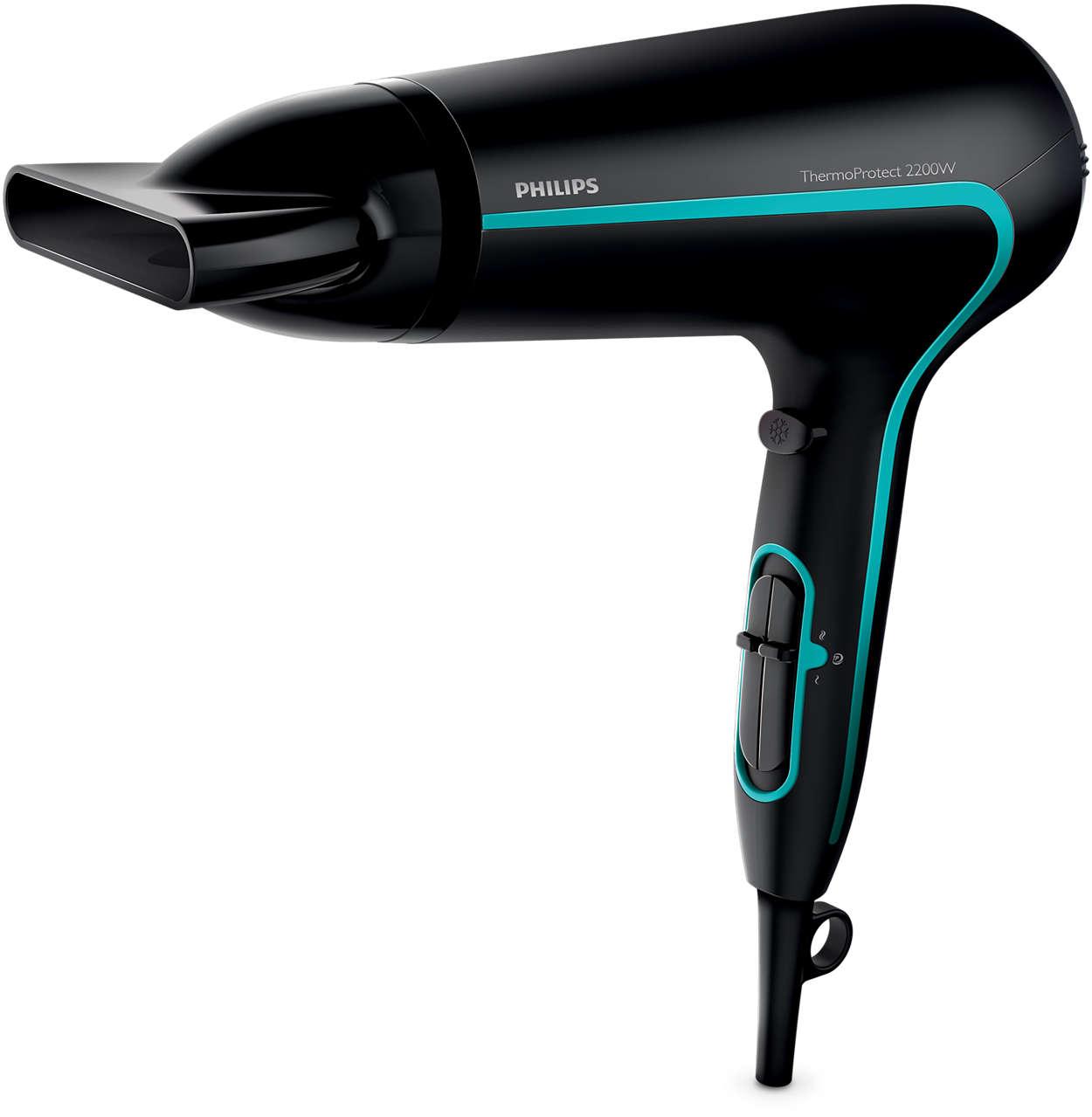Séchage puissant et cheveux protégés