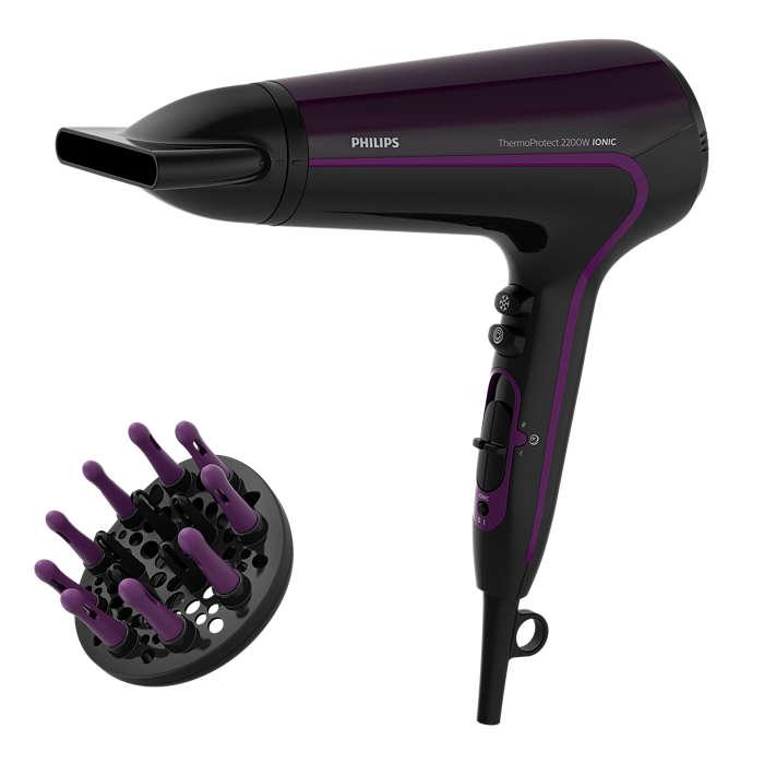 ThermoProtect kuivaa hiuksesi nopeasti alhaisessa lämpötilassa