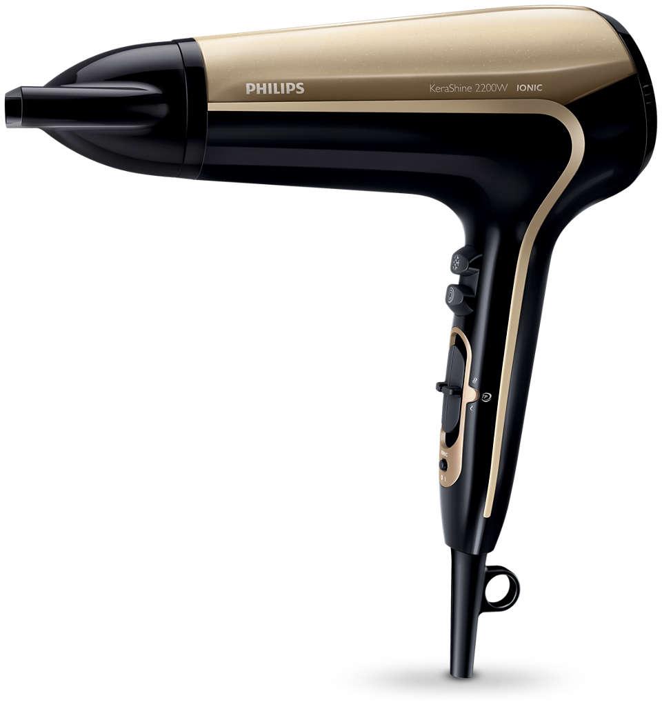 Asciuga i capelli senza danni per risultati luminosi e rapidi