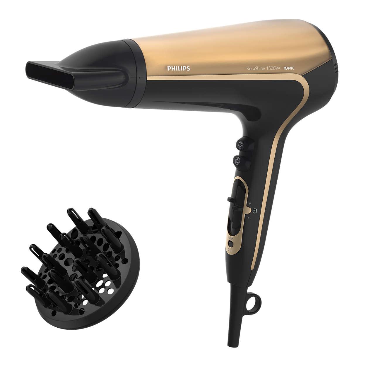 溫控護髮功能,以較低溫度快速吹乾頭髮