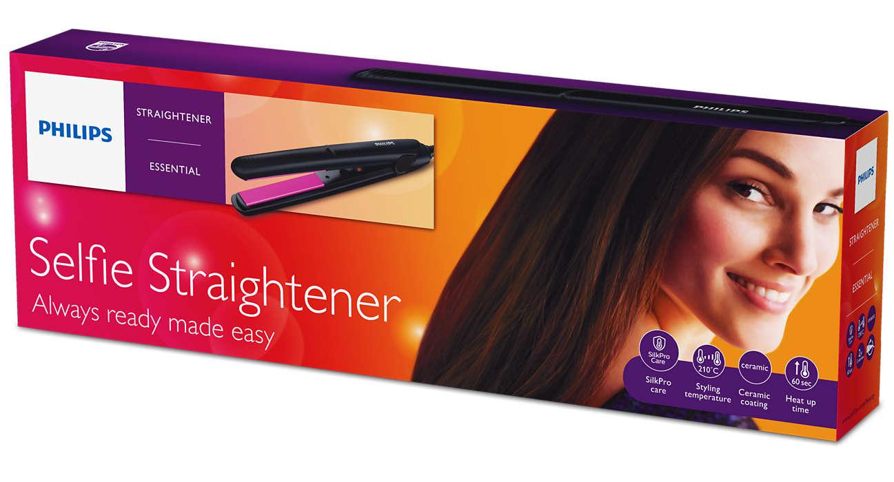 Selfie Straightener Hp8302 00 Philips Catokan In Styler Hair Rotating Iron Curler Always Ready Made Easy