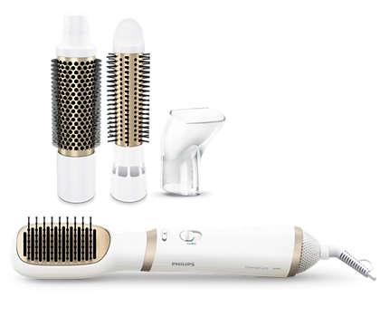 Verschillende haarstijlen met ionenverzorging