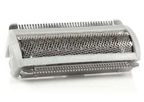 Cabezal de afeitado gris con lámina