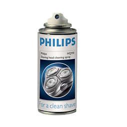 rengöringsspray för rakhuvuden
