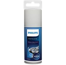 Shaving head cleaning spray