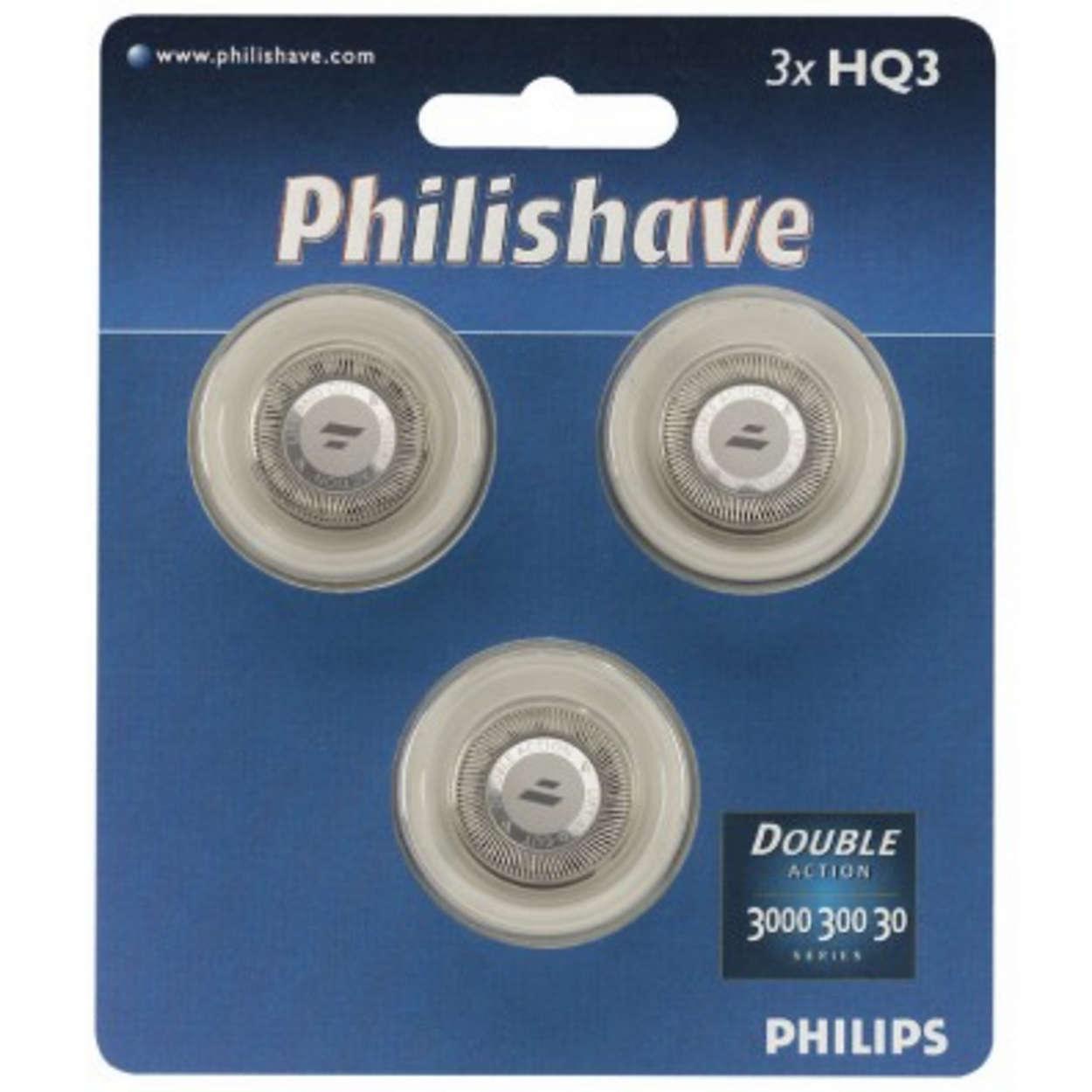Pour têtes de rasoir DoubleAction et séries3000, 300 et30