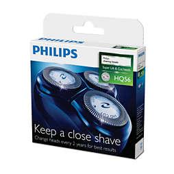 têtes de rasage