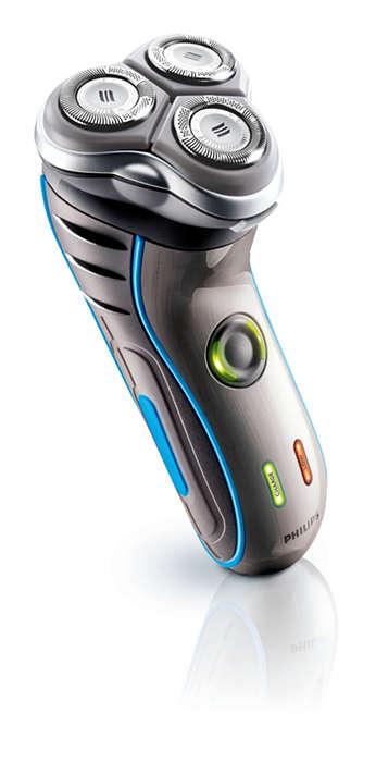 Präzise und gründliche Rasur