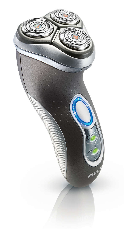 Para un afeitado más rápido y más al ras