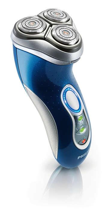 Para um barbear mais rápido e mais rente