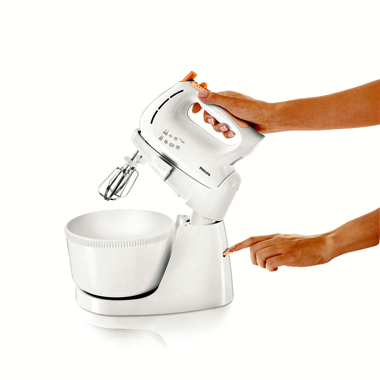 Stand Mixers Hr1538 80 Philips Mixer With Hr1559 Grey Prepare Homemade Delicacies Easily