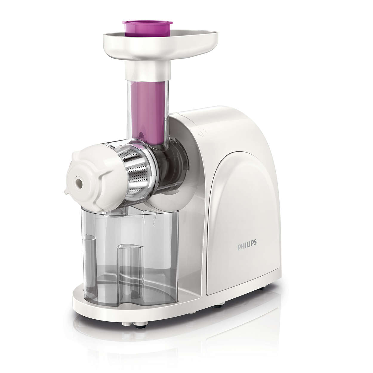 Jumbo Slow Juicer Signora : viva Collection Slow juicer HR1830/03 Philips