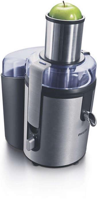 Maximale hoeveelheid sap in een handomdraai