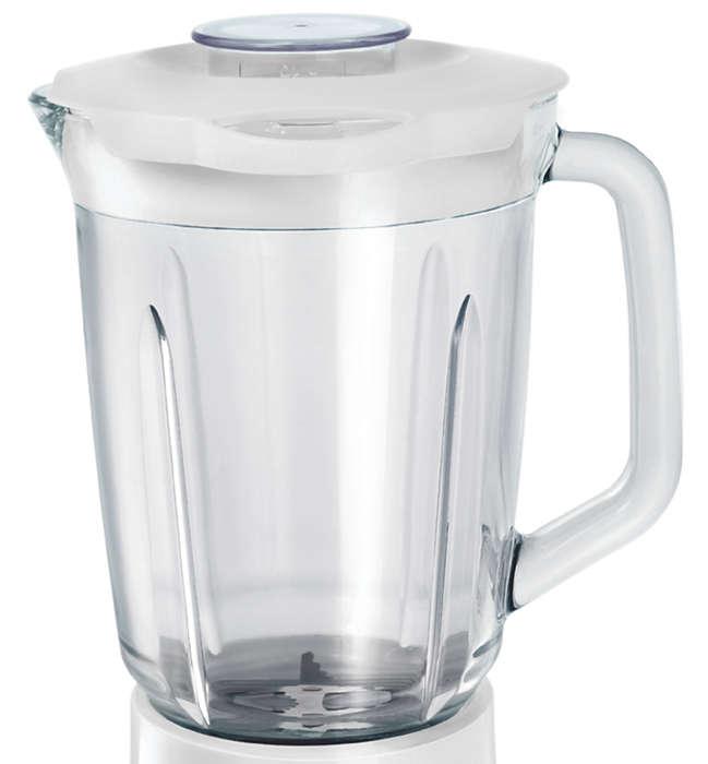 Licuadora con jarra de cristal