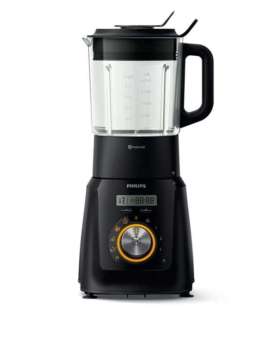 Liquidifica e coze para sopas, batidos, molhos e muito mais