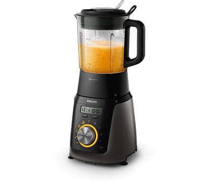 Mixe et prépare soupes, smoothies, sauces, etc.