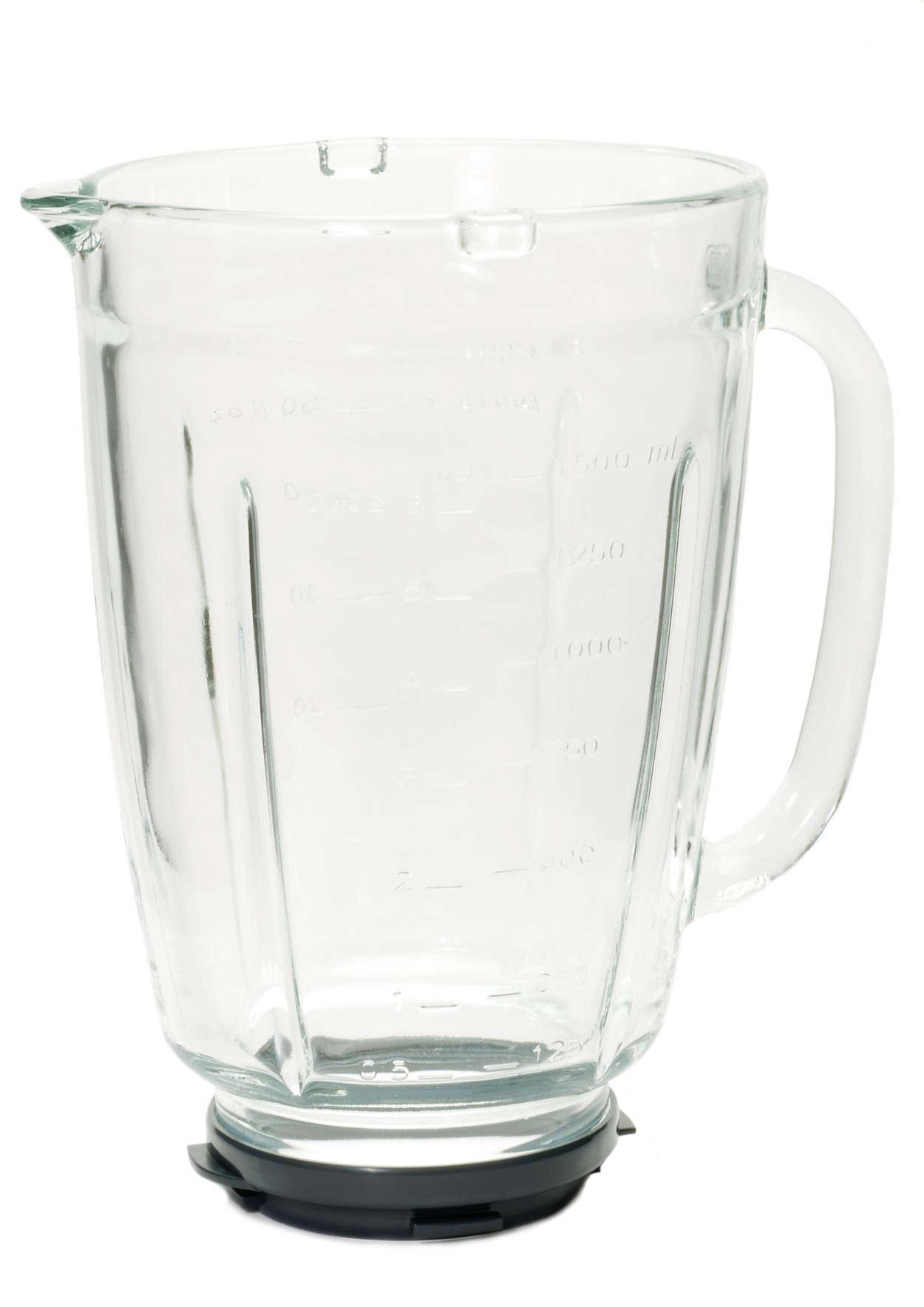 Bol en verre pour votre blender