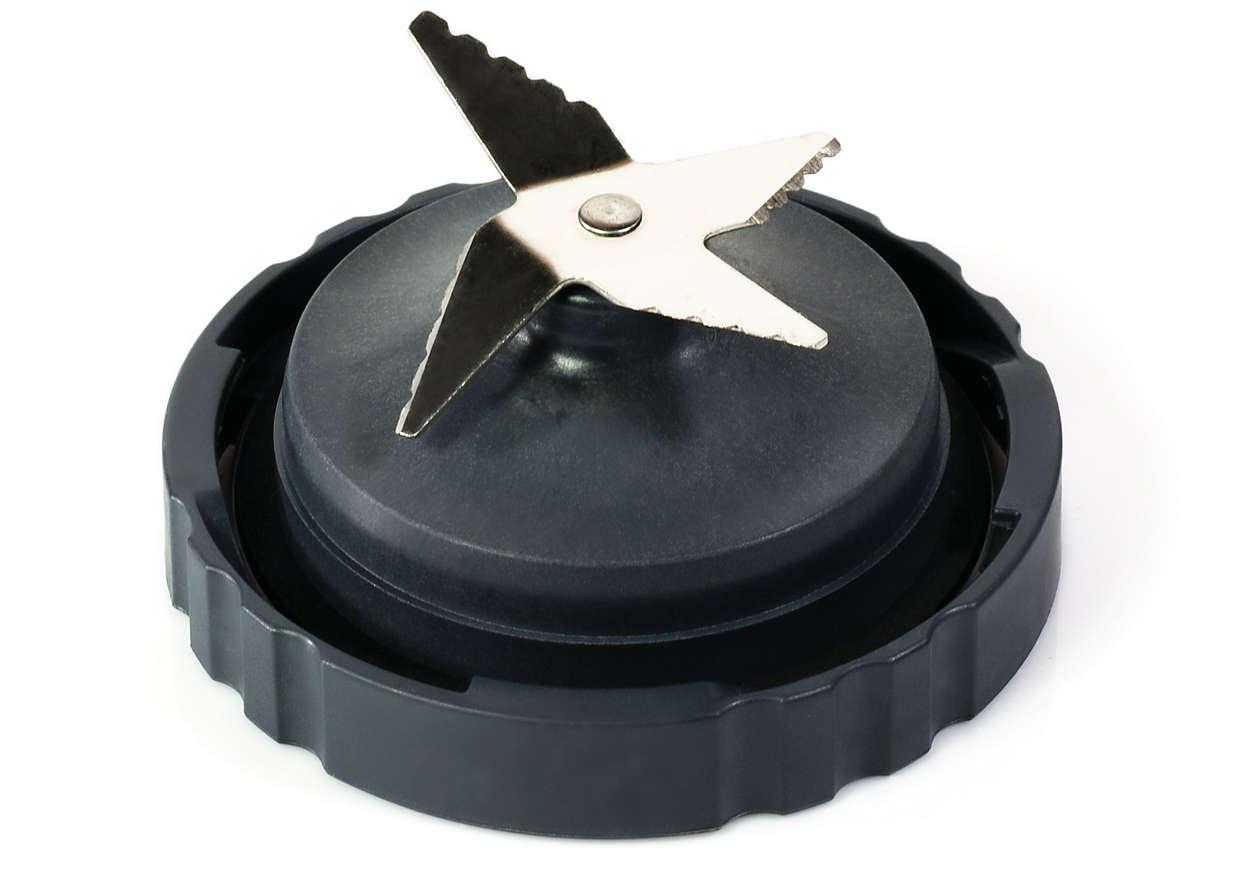 Per tagliare facilmente ingredienti con il frullatore