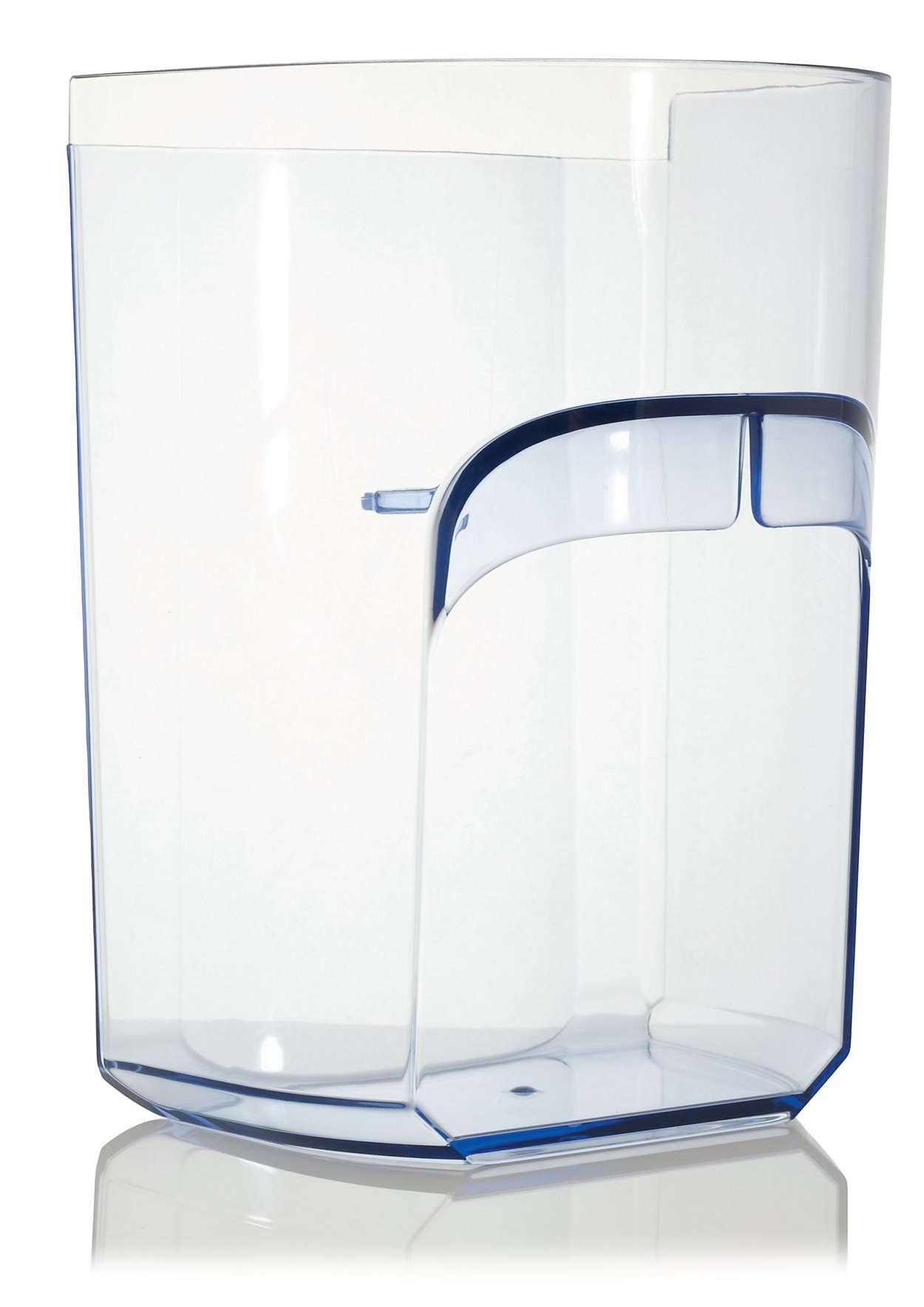 Til opbevaring af frugtkød i din juicer