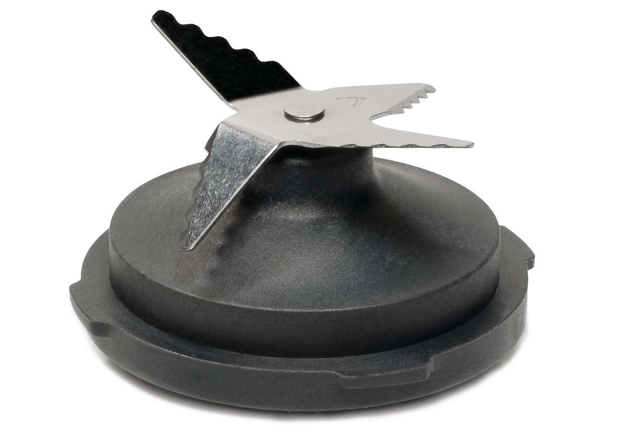 Para cortar ingredientes con un robot de cocina
