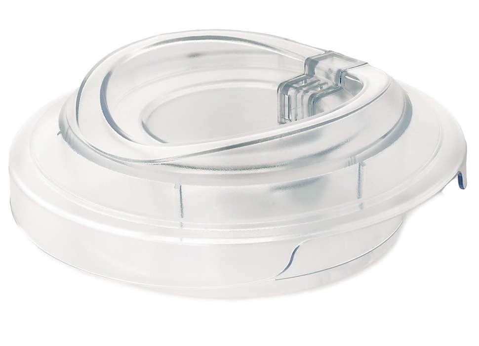 Zum Verschließen des Behälters