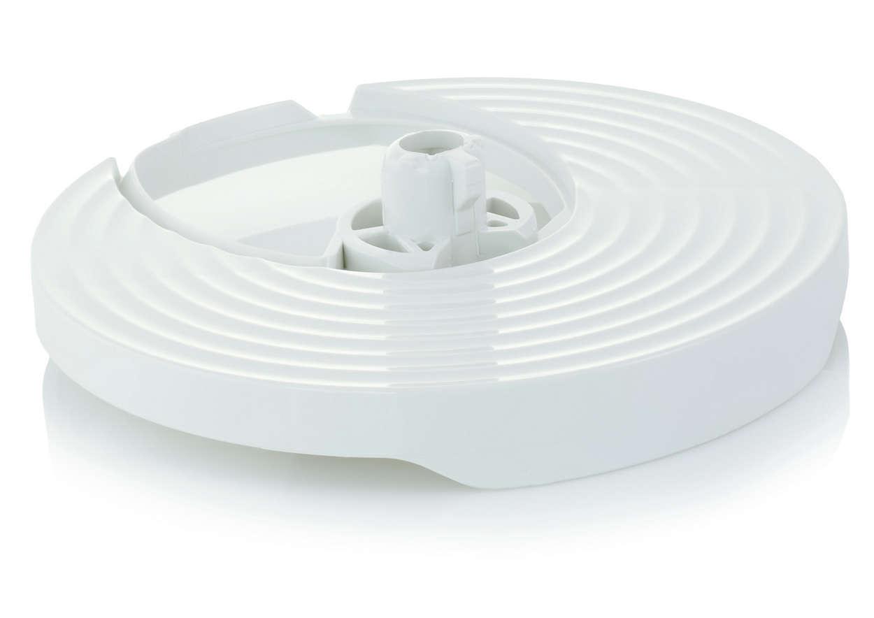 Accueille les disques de votre robot de cuisine