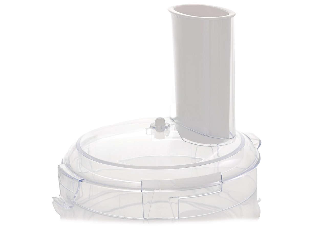Para cerrar el recipiente del robot de cocina