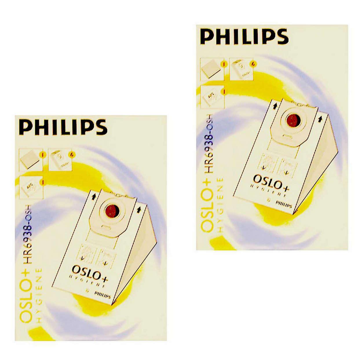 O saco para o pó original da Philips