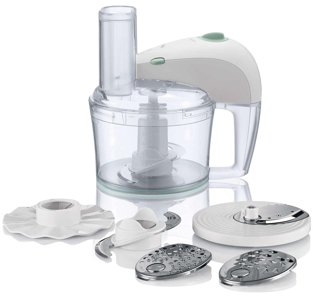 Robot de cuisine hr7605 10 philips for Robot cuisine philips