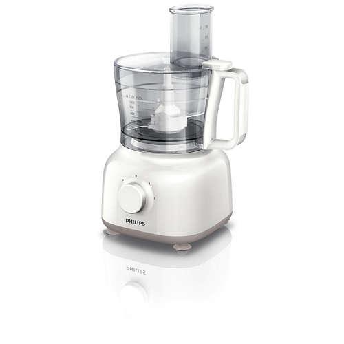 Küchenmaschine mit 650 W und 2,1 l Schüssel HR7627/02 kaufen ...