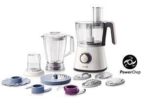 Küchenmaschine mit 750W und kompaktem 3-in-1-Design