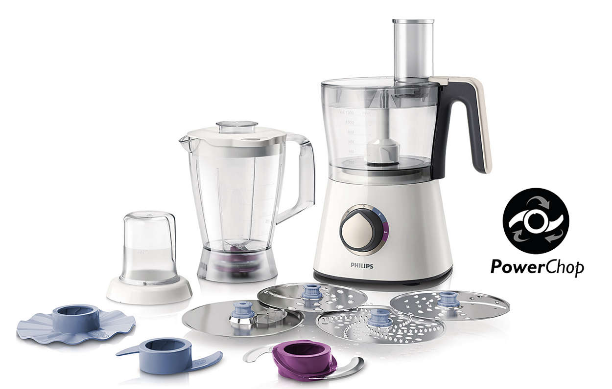 Viva collection robot de cuisine hr7762 00 philips for Robot cuisine philips