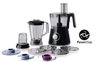 Küchenmaschine mit 750W, kompaktes 3-in-1-Design, 2l Schüssel