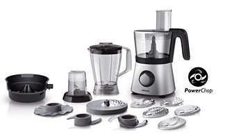 Küchenmaschine mit 850W und kompaktem 4-in-1-Design