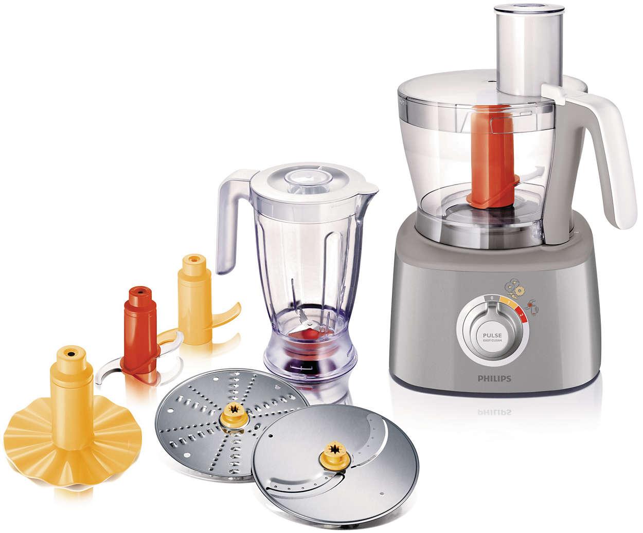 Robot de cuisine hr7771 50 philips for Robot cuisine philips