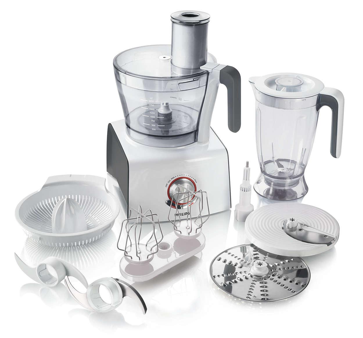 pure essentials collection robot de cuisine hr7774 30. Black Bedroom Furniture Sets. Home Design Ideas