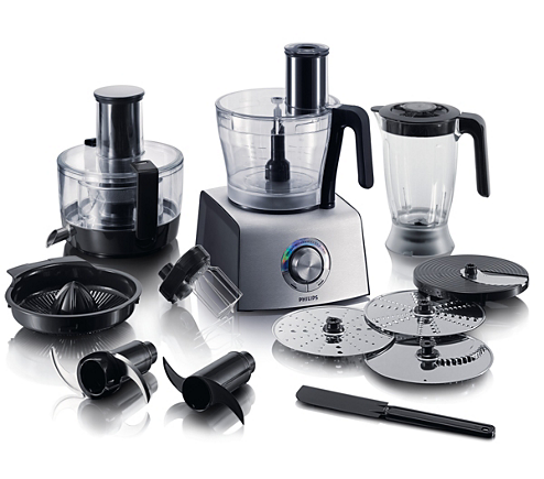 Aluminium collection food processor hr7775 00 philips for Cuisine aluminium