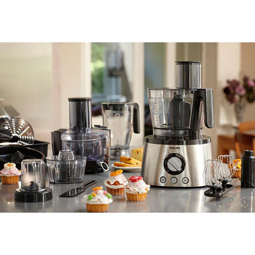 Compra robot da cucina compatto 4 in 1 da 1300 w hr7778 00 - Robot da cucina compatto ...