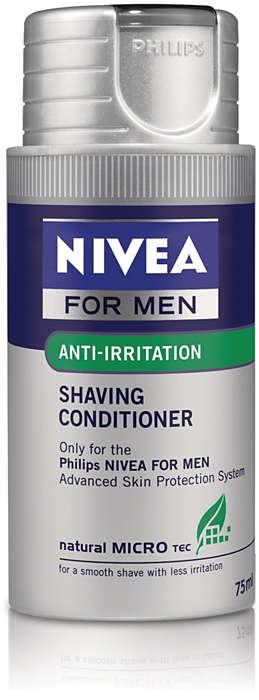 Fugtgivende shaving-lotion