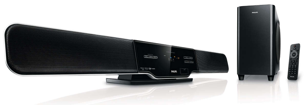 soundbar home theater hsb2313a f7 philips. Black Bedroom Furniture Sets. Home Design Ideas