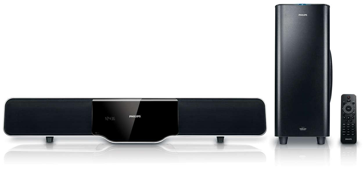 barre de son hsb4383 12 philips. Black Bedroom Furniture Sets. Home Design Ideas